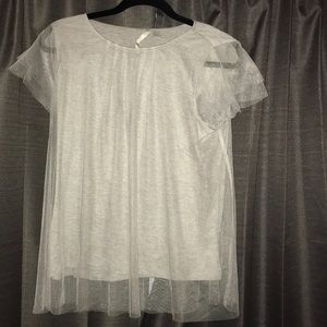 Grey Tulle t-shirt